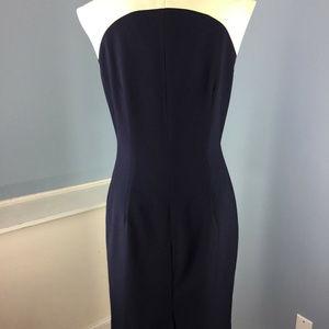 Ellen Tracy Dresses - Ellen Tracy M 8 Beige Navy blue Dress Colorblock